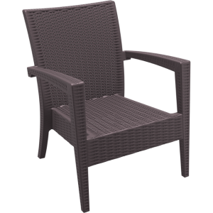 Tequila Lounge Armchair - Chocolate, No Cushion