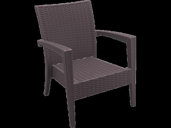Tequila Lounge Armchair - Chocolate, No Cushion