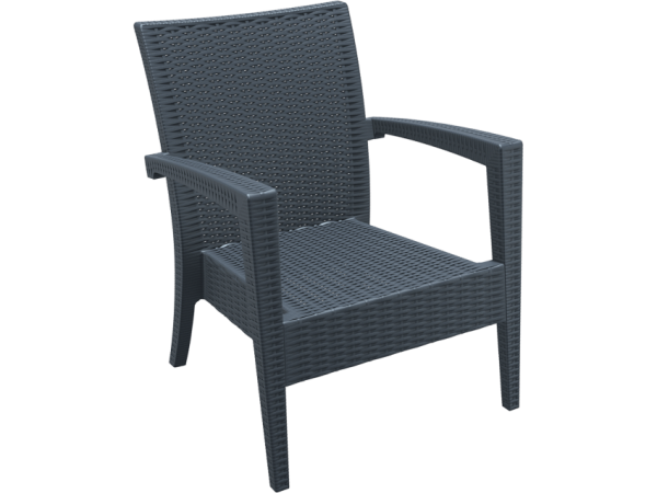 Tequila Lounge Armchair - Anthracite, No Cushion