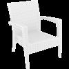 Tequila Lounge Armchair - White, No Cushion