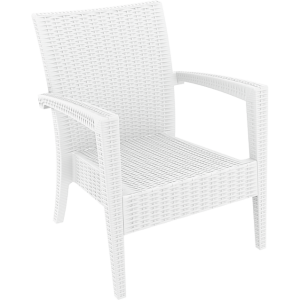 Tequila Lounge Armchair - White, No Cushion