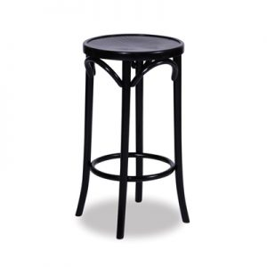 68cm Bentwood Stool without back - Black
