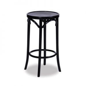 68cm Bentwood Stool without back - Black
