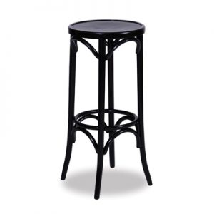 80cm Bentwood Stool without back - Black