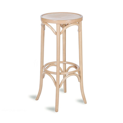 80cm Bentwood Stool without back - Natural