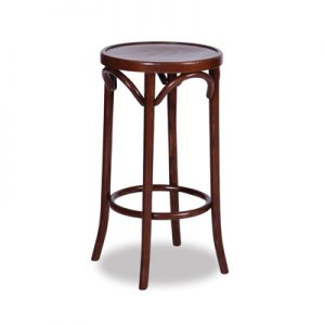 80cm Bentwood Stool without back - Walnut