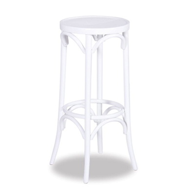 80cm Bentwood Stool without back - White