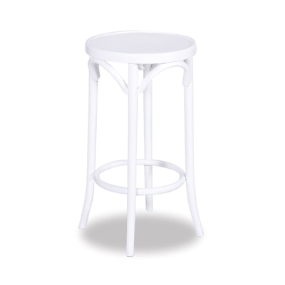68cm Bentwood Stool without back - White