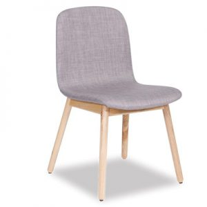 Castle Scandinavian Timber Dining Chair - Ash Grey