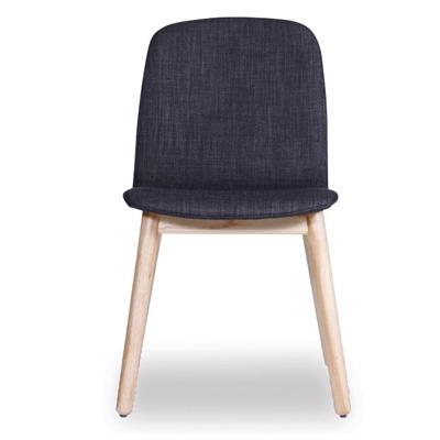 Castle Scandinavian Timber Dining Chair - Dark Grey