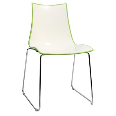 Chair Bicolore Sled Chrome - Green