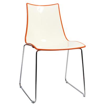 Chair Bicolore Sled Chrome - Orange
