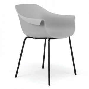 Crane Chair With Post Legs - Grey