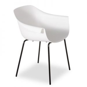 Crane Chair With Post Legs - White