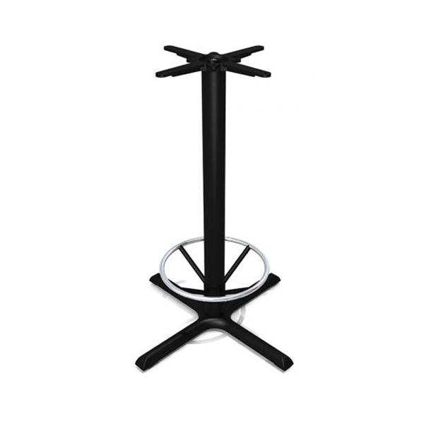 Flat Tech KX30 Black HB Table Base - With Foot Ring