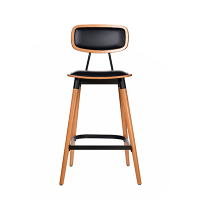 Felix Bar Stool (Vinyl seat) - Lancaster Oak