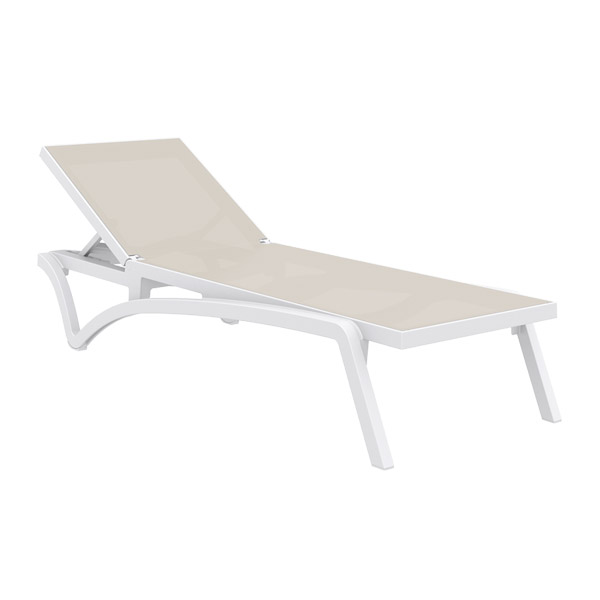 Pacific Sun Lounger - TAUPE-WHITE