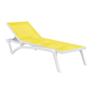 Pacific Sun Lounger - YELLOW-WHITE