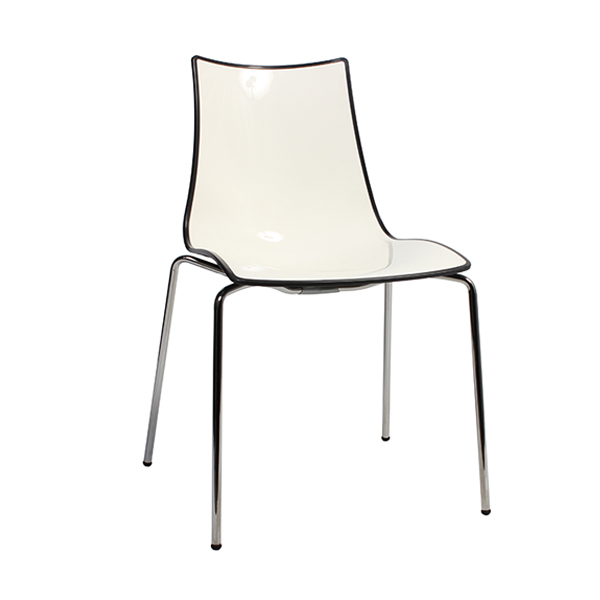 Zebra Bi-Color Chair - Metal Legs - Anthracite