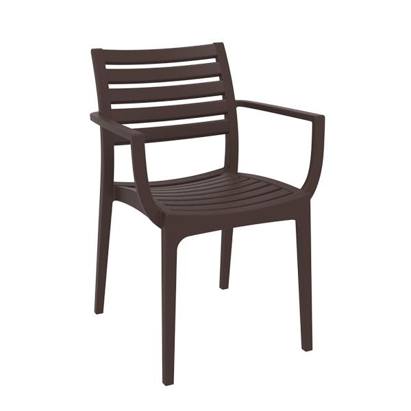 Artemis Arm Chair - Chocolate