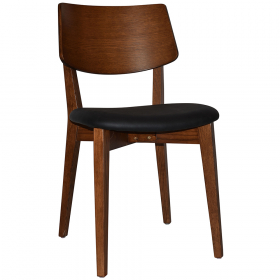 Phoenix Chair Light Walnut – Vinyl Black