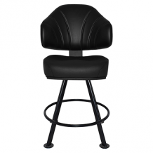 Luxor Gaming Stool 4Leg Metal Black – Vinyl Black